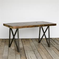 Dining Tables, Astonishing Light Brown Rectangle Rustic Wooden Reclaimed  Wood Dining Table Stained Design: ...