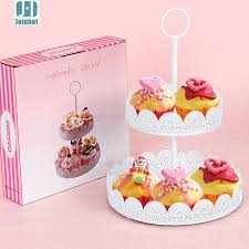 Cake Decorating Accessories Wholesale Aliexpress Buy 100 tiers white lace cupcake Iron cake Stand 76