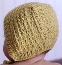 Baby Bonnet Knitting Pattern Interesting Design