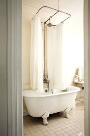 clawfoot bathtub shower curtain apartment bathroom with tub and shower enclosure with 2 curtains shower curtain
