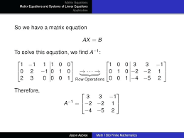 how to solve system of equations with matrices math matrix equations matrix equations and systems solve system of equations matrix mathematica sociwiz