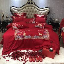 gold embroidery bedding sets king