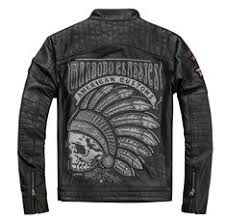Indian Head Embroidered Genuine Leather Motorcycle Jacket ...