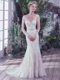 lace wedding dress with sheer lace sleeves love maggie love maggie