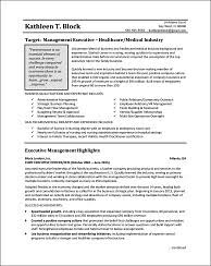 Example Management Resume  This management resume illustrates some  advanced strategies you can use when your career track and goals are not  typical.
