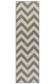 moda chevron grey hall runner
