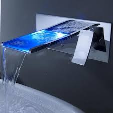 2019 led light faucet waterfall wall mounted bathroom sink faucet with color changing mixer tap with 1 handle 1 hole hot and cold from dhgate xiaoqiang