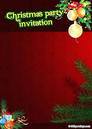 Template For Christmas Party Invitation Sample Christmas Party Invitation Holiday Invitation Template