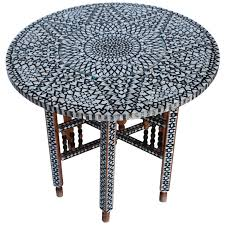 beautiful mid century mother of pearl moroccan coffee table for