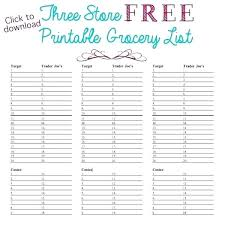 Free Printable Blank Grocery List Grocery List Template Free Blank Shopping Editable Ks1