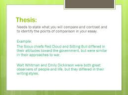 compare contrast expository essay ppt video online  4 thesis needs to state what you will compare and contrast and to identify the points