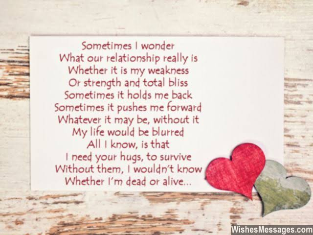 cute love poem for him