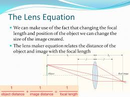 the lens equation we can make use of the fact that changing the focal length and
