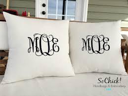 Monogrammed Decorative Pillows