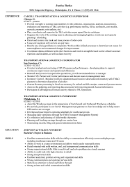 Transportation Resume Examples Transportation Logistics Resume Samples Velvet Jobs