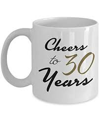 30th birthday gifts for 30 year old women cheers to 30 years mug unique