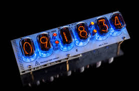 Example of assembled Nixie tubes clock on IN-12 tubes