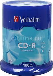 Купить Оптический <b>диск CD</b>-<b>R VERBATIM</b> 700Мб в интернет ...