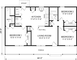 3 Bedroom 2 Bath House Plans Interesting Inspiration Ideas