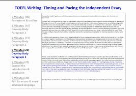 toefl ibt essay writing timing and pacing for the independent  toefl ibt essay writing timing and pacing for the independent essay task