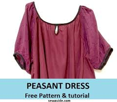 Peasant Dress Pattern Classy Make A Pretty PEASANT DRESSFree DIY Sewing Pattern Sew Guide