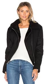 double face lamb shearling moto jacket vince