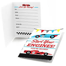 Car Birthday Invitations Let S Go Racing Racecar Fill In Race Car Birthday Party Or Baby Shower Invitations 8 Count