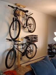 diy bike rack garage bike