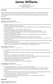 Project Manager Resume Format Construction The Most Amazing Junior