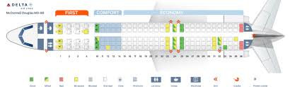 Delta Boeing Douglas Md 80 Seating Chart Seat Map Mcdonnell Douglas Md 88 Delta Airlines Best Seats