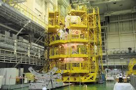 корабль Союз МС прошел на Байконуре контрольный осмотр Космический корабль Союз МС 05 прошел на Байконуре контрольный осмотр