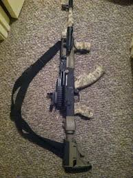 My AK 47 in 7 62X39mm I replaced factory wood furniture with new