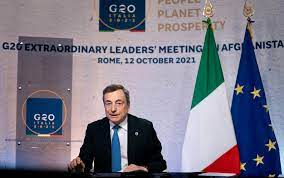 G20 Afghanistan, il discorso di Mario Draghi