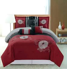 red and gray bedding block stripe quilt twin red grey grey black comforter sets