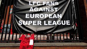European Super League: Liverpool and Leeds fans protest breakaway plans  ahead of Premier League clash - CBSSports.com