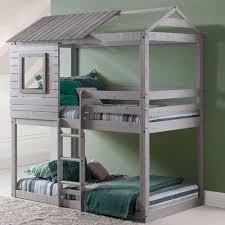 740 Donco Kids Twin Bunk Bed  100u0027u0027 H x 43u0027u0027 W