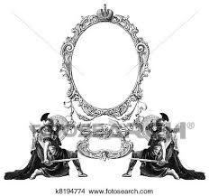 Antique frame drawing Gothic Frame Drawing Old Frame Fotosearch Search Clip Art Illustrations Wall Posters And Fotosearch Old Frame Drawings K8194774