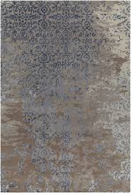 rupec collection handtufted area rug in grey blue  brown