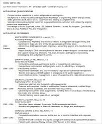 Examples Of Accounting Resumes Best 48 Sample Staff Accountant Resumes Sample Templates