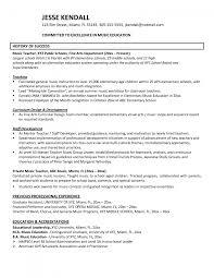 Sample Format Of Resume For Teachers Best Teacher Resume Example