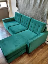 designer emerald green sofa upholstery toronto