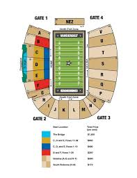 Vanderbilt Football Stadium Virtual Seating Chart Vanderbilt Athletics Vu Commodores Football Tickets