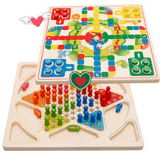 Wooden Ludo Board Game Wooden Ludo Game Child Early Learning Toys Wood Blocks Parents 77