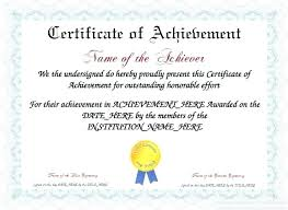 Make An Award Certificate Online Free Achievement Certificate Of Appreciation Free Templates Make Your Own