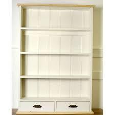 ... Kitchen Wall Shelving Units White Wood Curio Wall Shelf Unit 3 Shelves  2 Double Hooks Kitchen ...