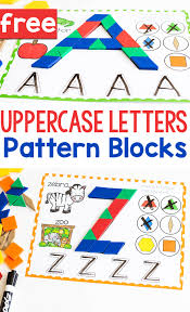 It's common knowledge that content is the most important part of writing and sending letters. Free Printable Uppercase Alphabet Pattern Block Mats