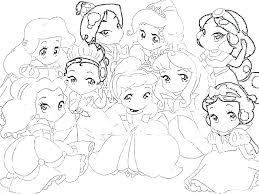 Mini Coloring Pages Coloring Pages Princess Coloring Pages