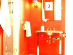 burnt orange bath rugs bathroom rug and brown set
