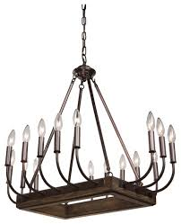 chandeliers 16 light w brunito bronze and wood metal auntic 22