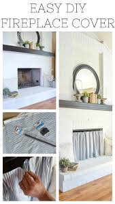 easy diy fireplace cover brilliant idea to hide an ugly fireplace opening